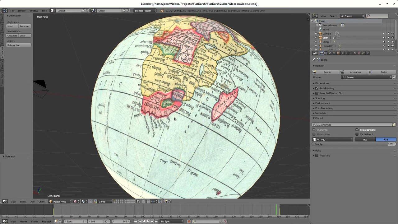 Gleason 3d globe flat earth youtube gumiabroncs Gallery