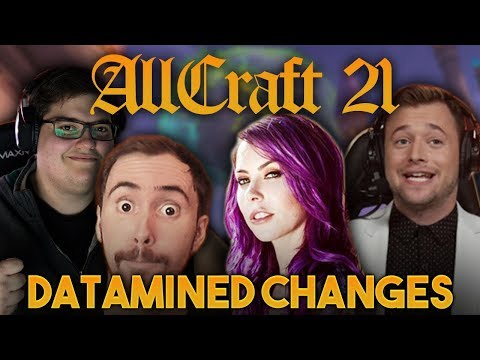 ALLCRAFT #21 - DATAMINED CHANGES ft. Asmongold,Michele Morrow, Hotted & Rich