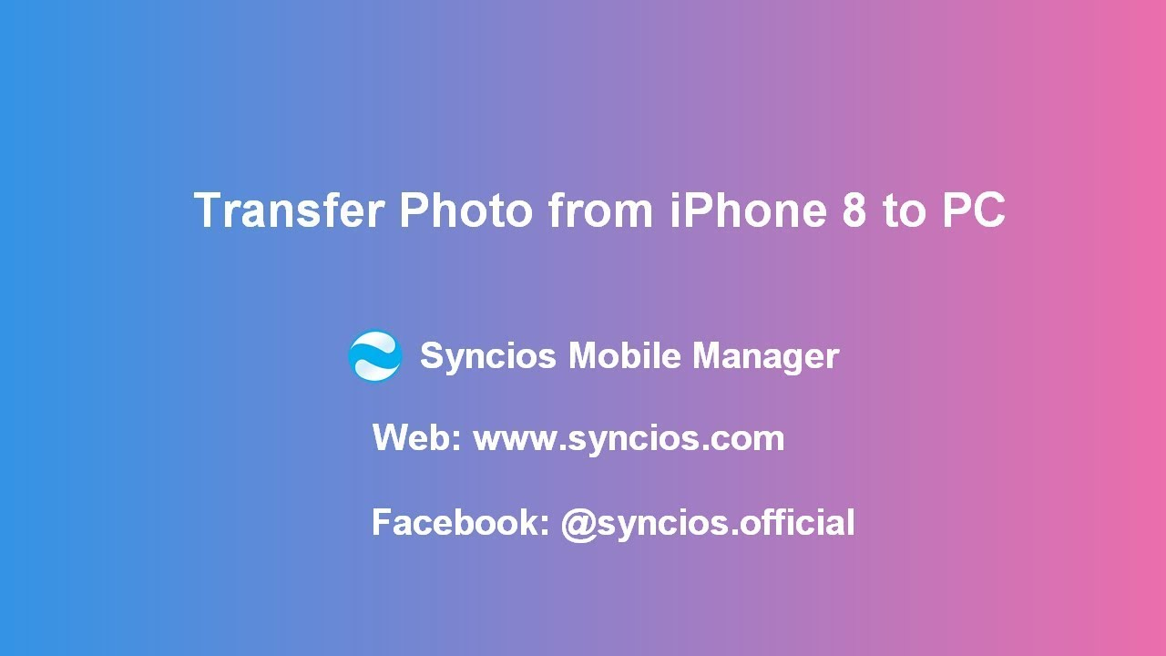 4 Methods to Transfer Photos from iPhone 8/8 Plus to Computer