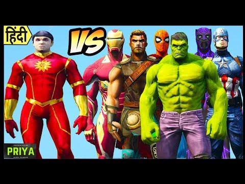 Shaktimaan Vs Hulk, Thor, Iron Man, Spiderman,  Captain America || Shaktimaan Vs Avengers