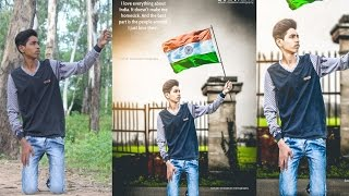 Photo editing in photoshop | Background changing | LOVE INDIA