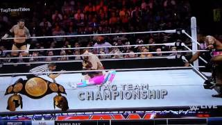 Newday vs league of nations full title match Monday night raw April 4, 2016