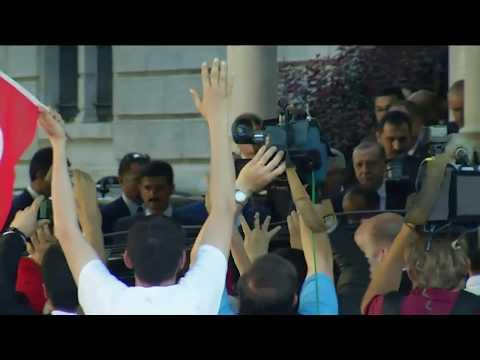 Recep Tayyip Erdogan in Washington: Da rasteten die türkischen Bodyguards völlig aus