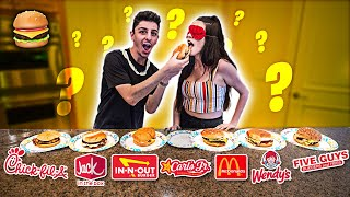 GUESS THAT FAST FOOD BURGER! **Blindfold T