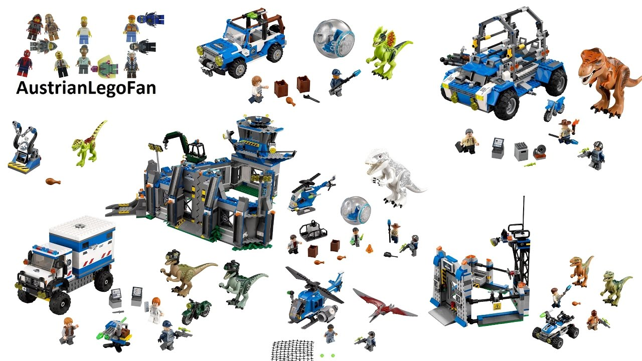 All Lego Jurassic World Sets - Lego Speed Build Review ...