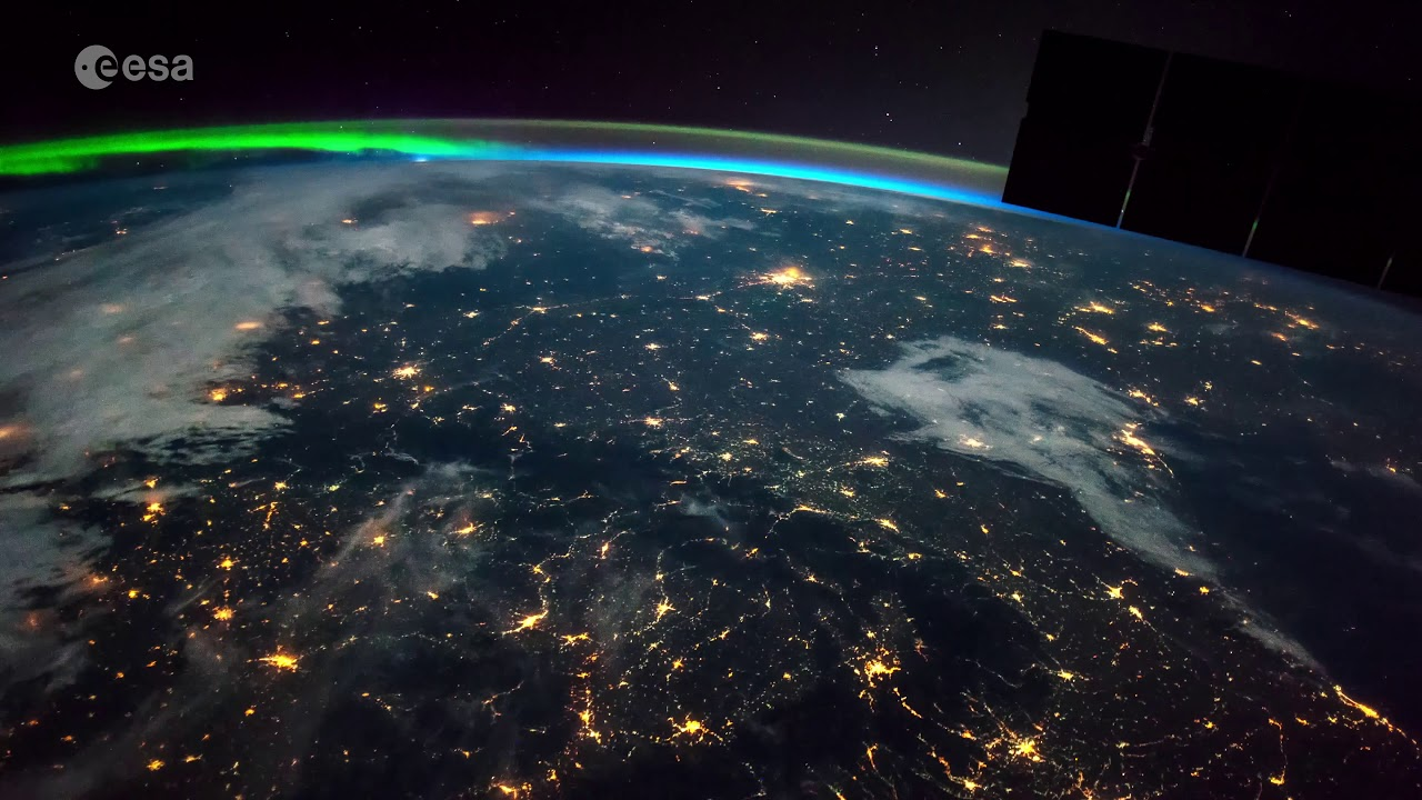 Time-lapse of Earth from the Space Station, from Africa to Russia