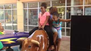 Wild Bull Ride with Ti&Naish | The Ciera and Olivia Show | August 8, 2015