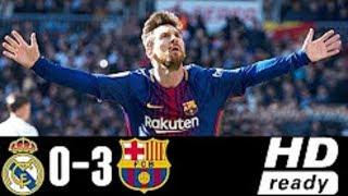 REAL MADRID vs BARCELONA (0-3) | RESUME ET TOUS LES BUTS 23/12/2017