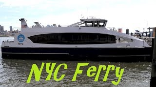 Ferry ride from 34th street to Wall street on NYC Ferry