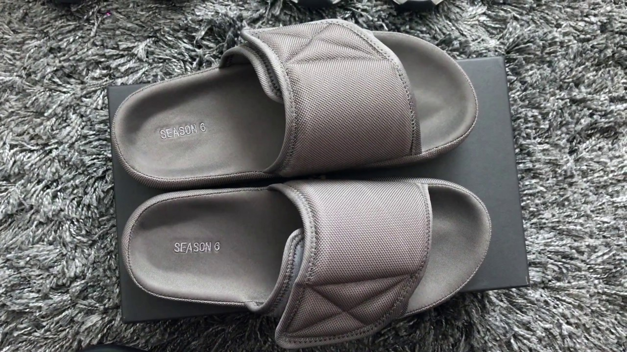 251ed7f670897 New Kanye Gear! Yeezy Season 6 Slides Unboxing   Review - YouTube