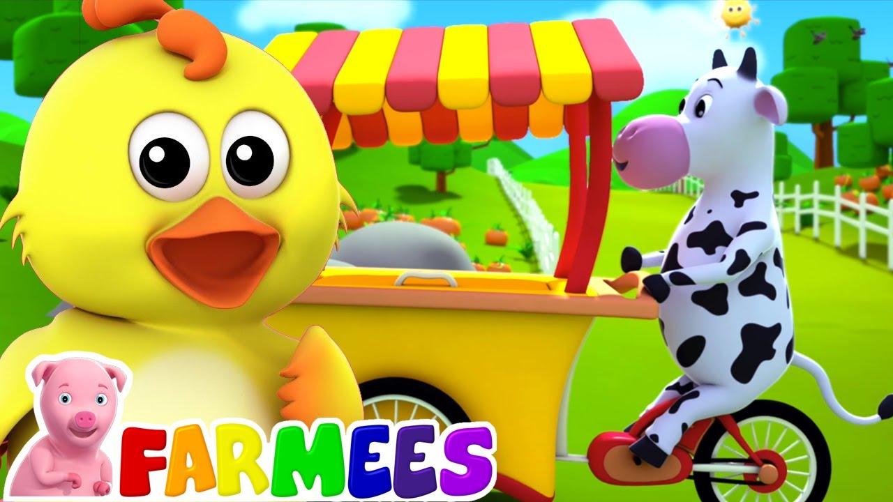 Canción de helado | Rimas para niños | Musica | Farmees Español | Videos educativos
