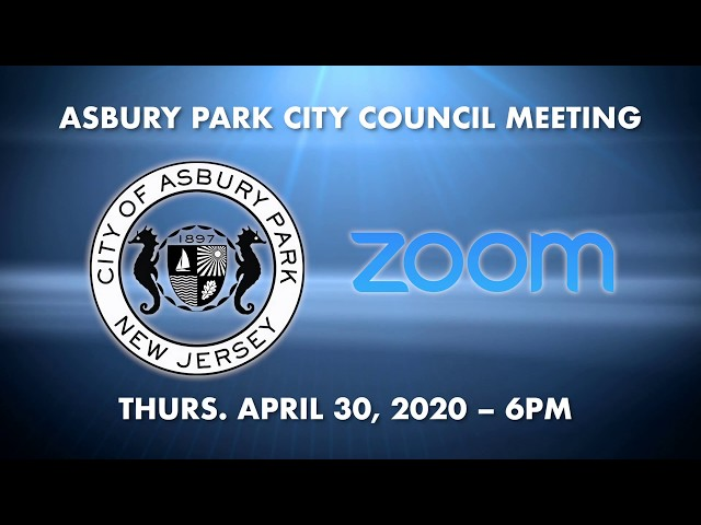 How-to join Asbury Park City Council Meeting April 30, 2020