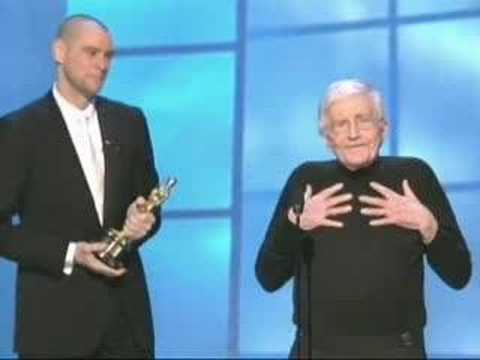 Jim Carrey presenting an Honorary Oscar® to Blake Edwards
