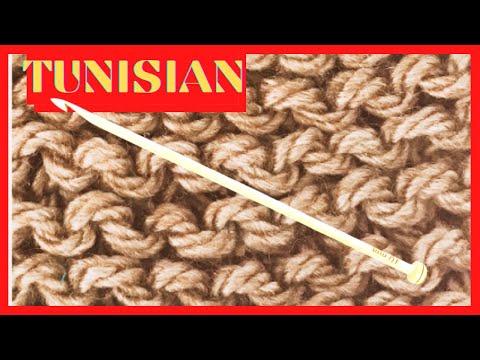 CROCHE TUNISIANO PONTO TRICO PASSO A PASSO MarlyThibes
