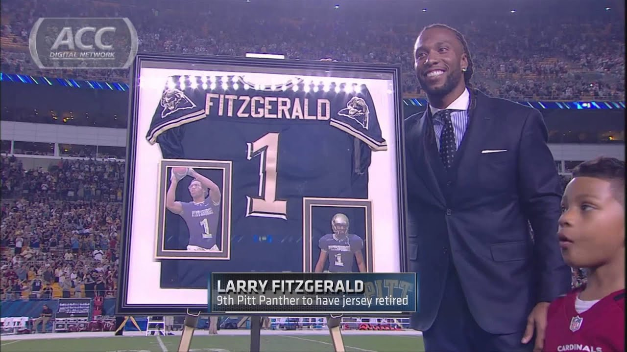 official photos 61d7a 47d8a ACC Must See Moment | Pitt Retires Larry Fitzgerald's Jersey |  ACCDigitalNetwork