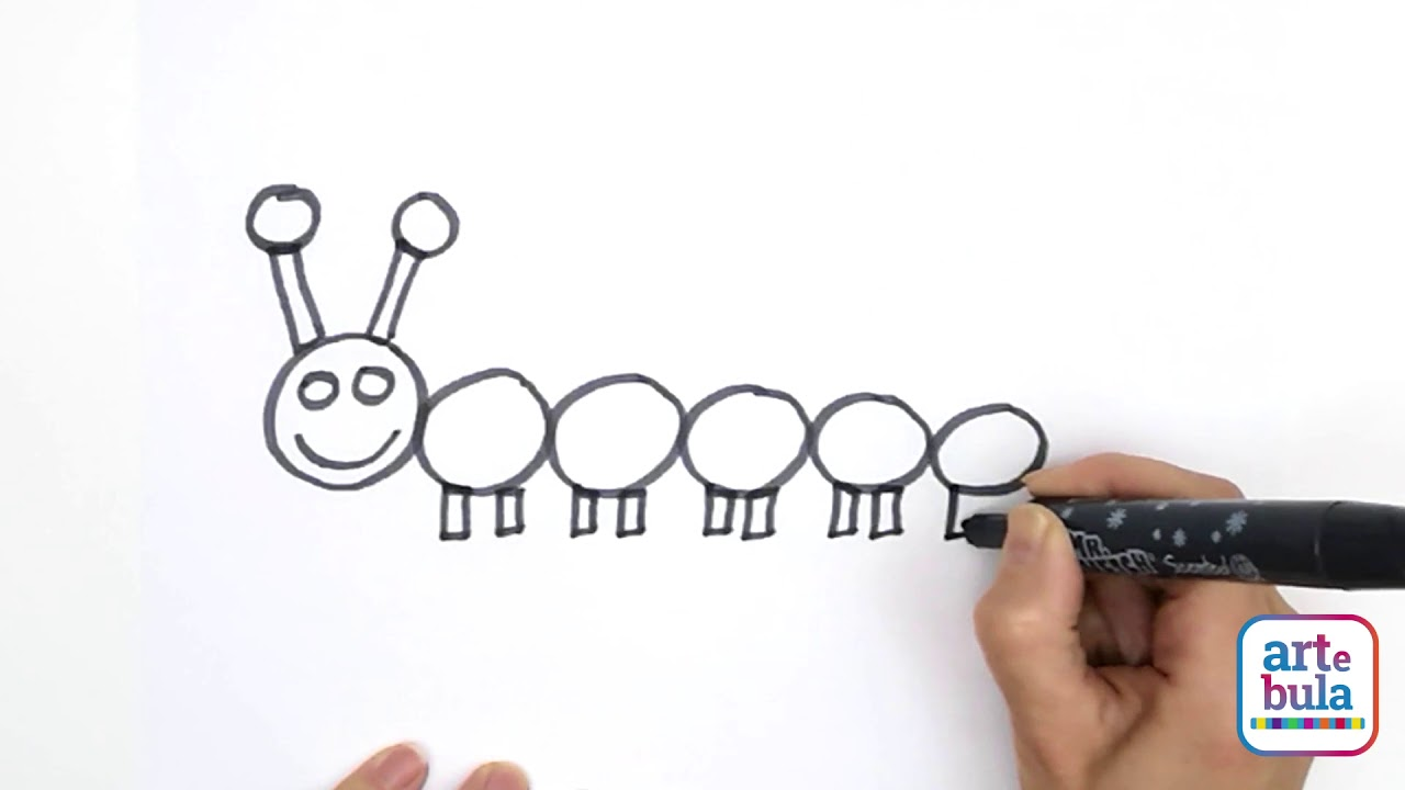 Learn to Draw a Caterpillar