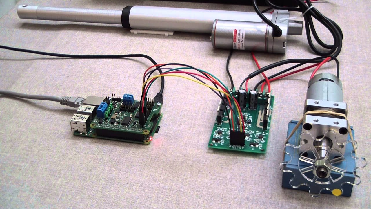 Controlling A Dc Motor And A Linear Actuator With A