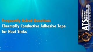 Thermally Conductive Adhesive Tape for Heat Sinks