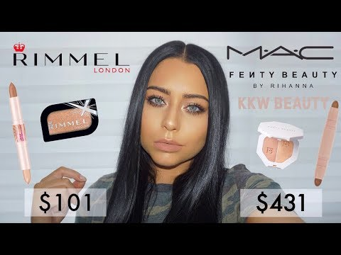 DRUGSTORE Alternatives to EXPENSIVE Makeup: Rimmel VS High End Tutorial