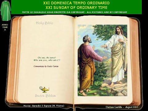 La gente chi dice che sia il Figlio dell'uomo?Tu sei Pietro e su questa pietra edificherò la mia Chiesa.