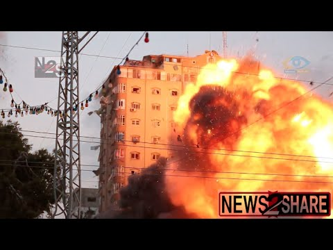[Original] Gaza Apartment Building Explodes and Collapses