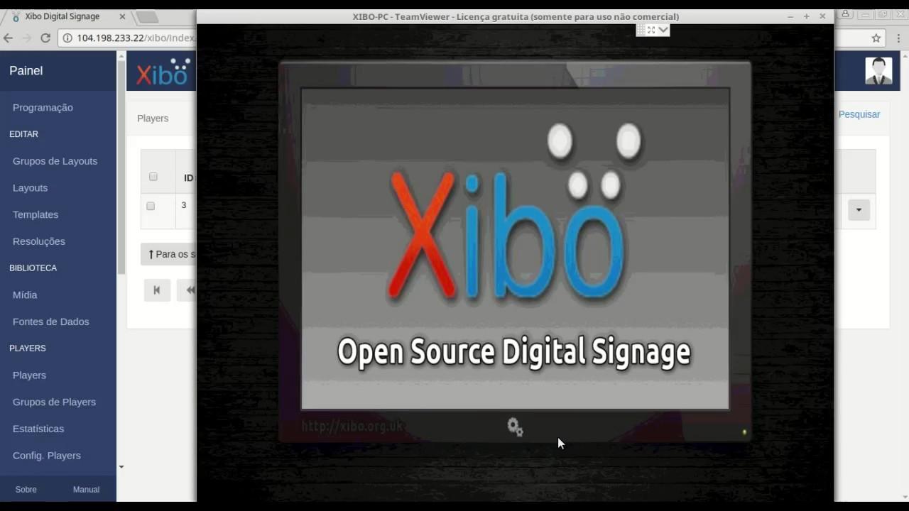 Executando layout no player - Xibo 1 7
