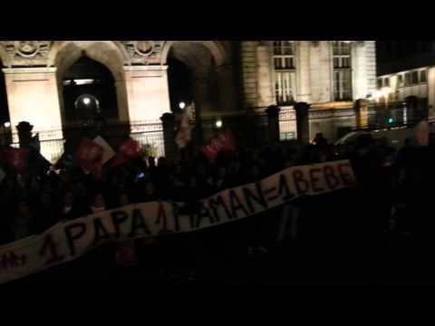 marseillaise pour la venue de Taubira à Lyon 27.03