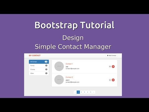 Bootstrap 3 Tutorial - Design Contact Manager Application