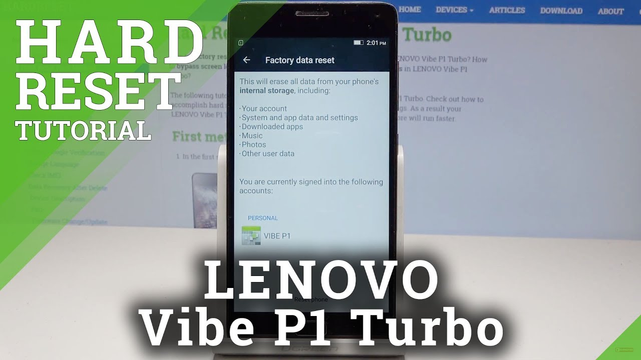 Hard Reset LENOVO Vibe P1 Turbo - HardReset info
