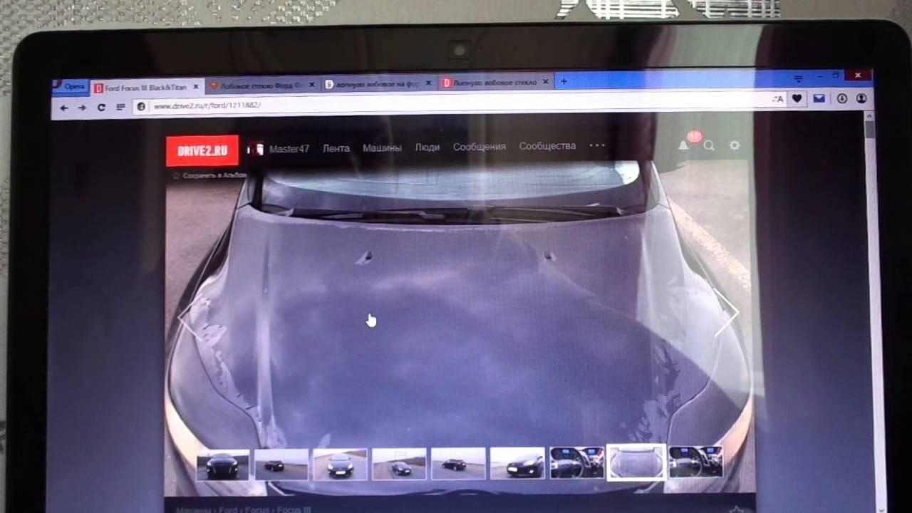 Ремонт трещины лобового стекла автомобиля Ford Focus в АвтоТОТЕММ .