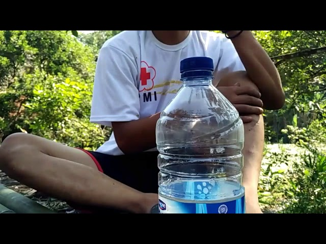 Gapura botol bekas..3D gambar. kreasi botol bekas