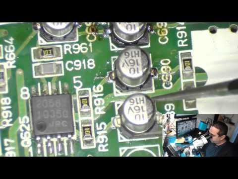 SOLDERING ALUMINUM SMD CAPACITORS ON SURROUND SOUND BOARD