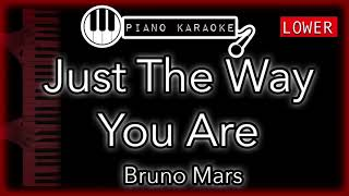 Just The Way You Are (LOWER -3) - Bruno Mars - Piano Karaoke Instrumental