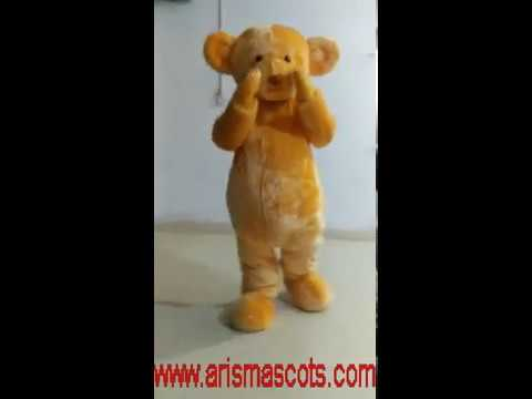 Adult Fancy Brown Teddy Bear mascot costume, Animal Mascot Outfit