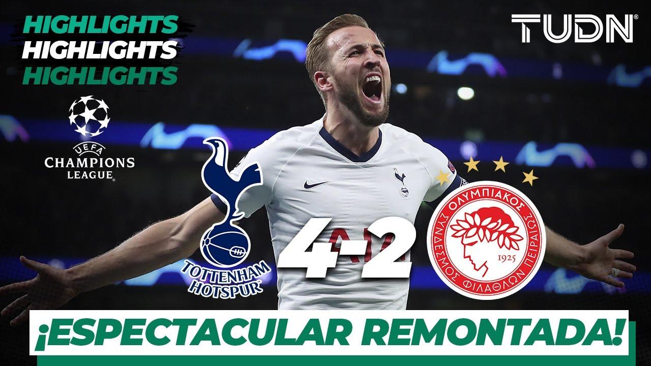 Highlights | Tottenham 4 - 2 Olympiacos | Champions League - J5 - Grupo B | TUDN