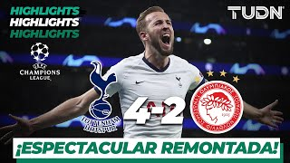 Highlights | Tottenham 4 - 2 Olympiacos | Champions League - J5 - Grupo B | TUDN