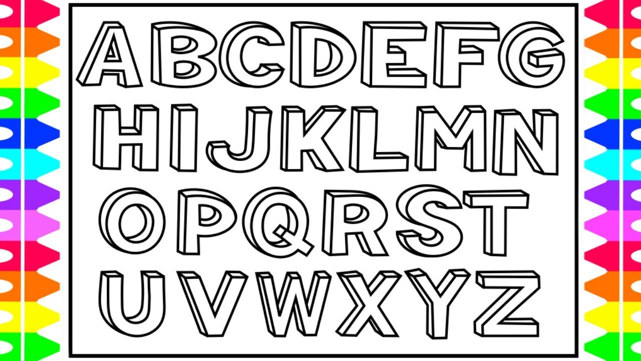 A To Z Alphabet Coloring Pages