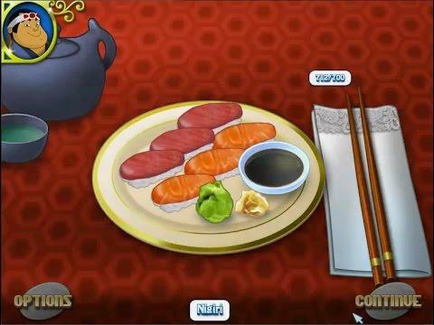 เกมส์ทำอาหารญี่ปุ่น ข้าวปั้นซูชิหน้าปลาดิบ - Nigiri Sushi Japanese food Cooking Game にぎり,초밥