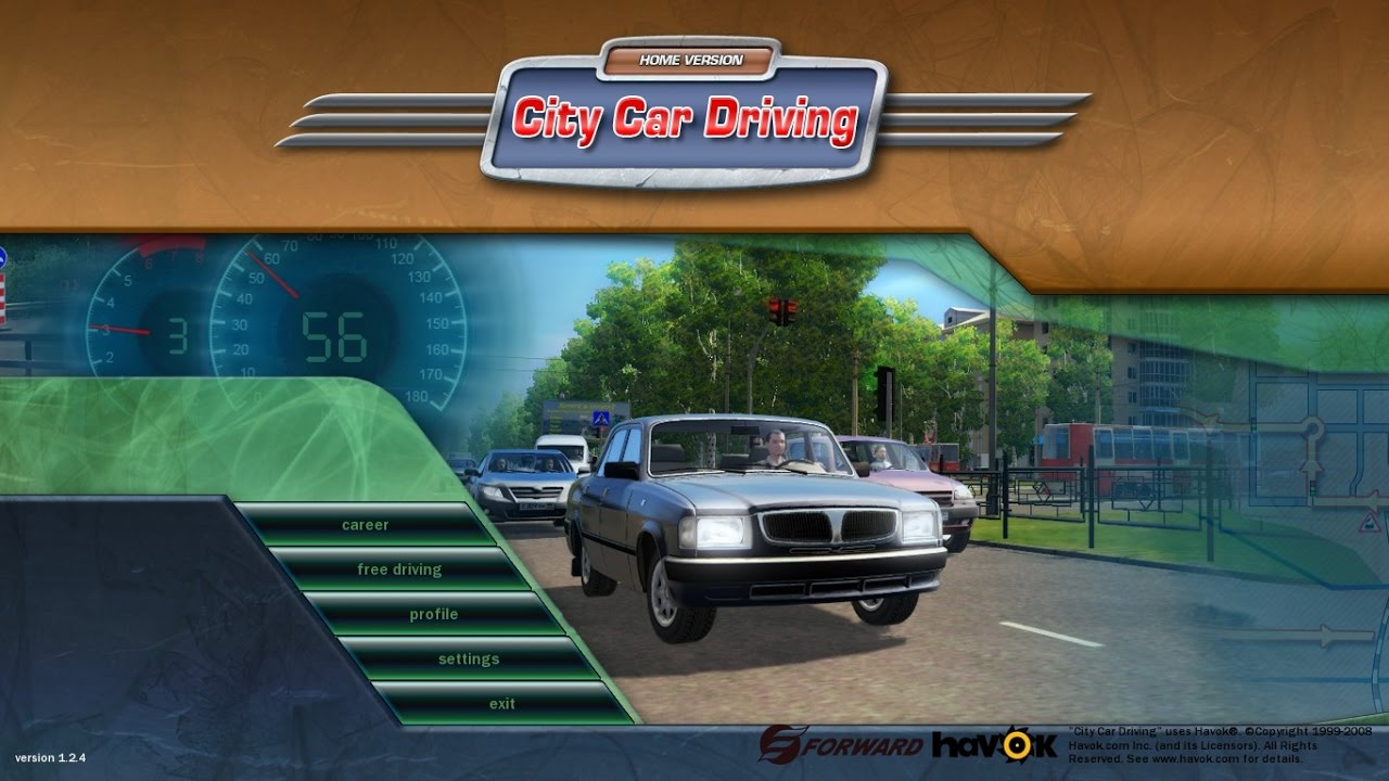 Download racing in car on pc with bluestacks.