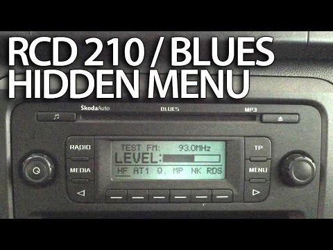 How to enter diagnostic hidden menu in VW RCD 210 / Skoda Blues radio (Golf Fabia Caddy Jetta Polo)
