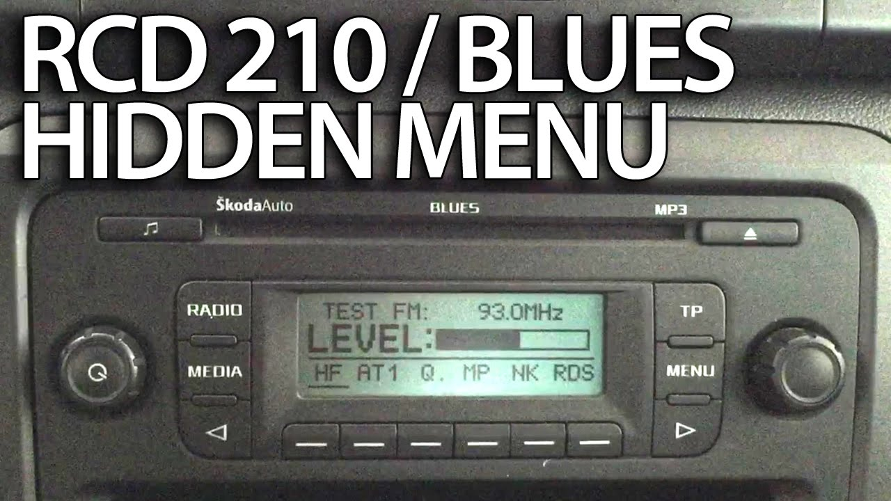 how to enter diagnostic hidden menu in vw rcd 210 skoda blues rh youtube com