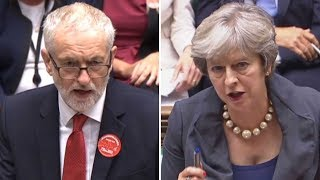 May and Corbyn at PMQs- watch live