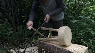 Making a Wood Stool with Hand Tools