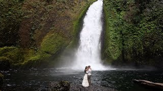 Kayla + Curtis - Elopement at Wahclella Falls