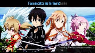 Karaoke - Crossing Field by LiSA (Sword Art Online OPENING 1) Instrumental