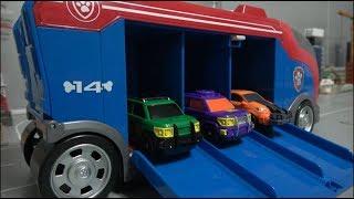 공룡메카드 캡쳐카 트럭에 싣고 다녀요 장난감 놀이 Dino Mecard Capture Car Truck Delivery Toys