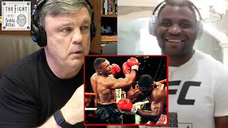 """USE THE FLOOR!"" Teddy Atlas Demonstrates Mike Tyson Uppercut for Francis Ngannou 
