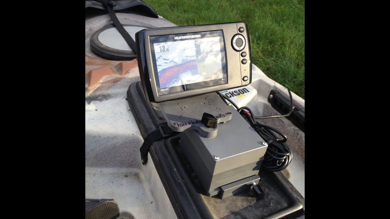 Kayak fish finder mount is there an easier way youtube for Fish finder on kayak