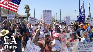 Thousands protest across California over coronavirus restrictions