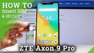 How to Insert Nano SIM Card to ZTE Axon 9 Pro – Input Micro SD Card